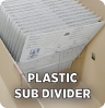 Clear Plastic Subdividers and Metal Dividers 2.25
