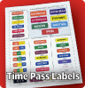 Time Pass labels