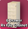 6 Drawer Rx File Cabinet
