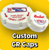 Custom Printed White Child Resistant Caps